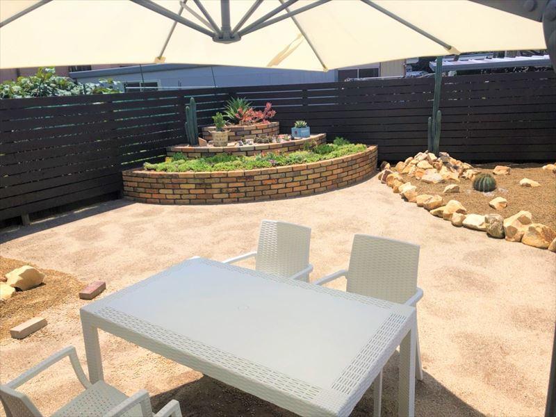 お庭は大分県初のロックガーデンです!